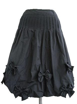 リボンたっぷり、タフタバルーンスカート!!